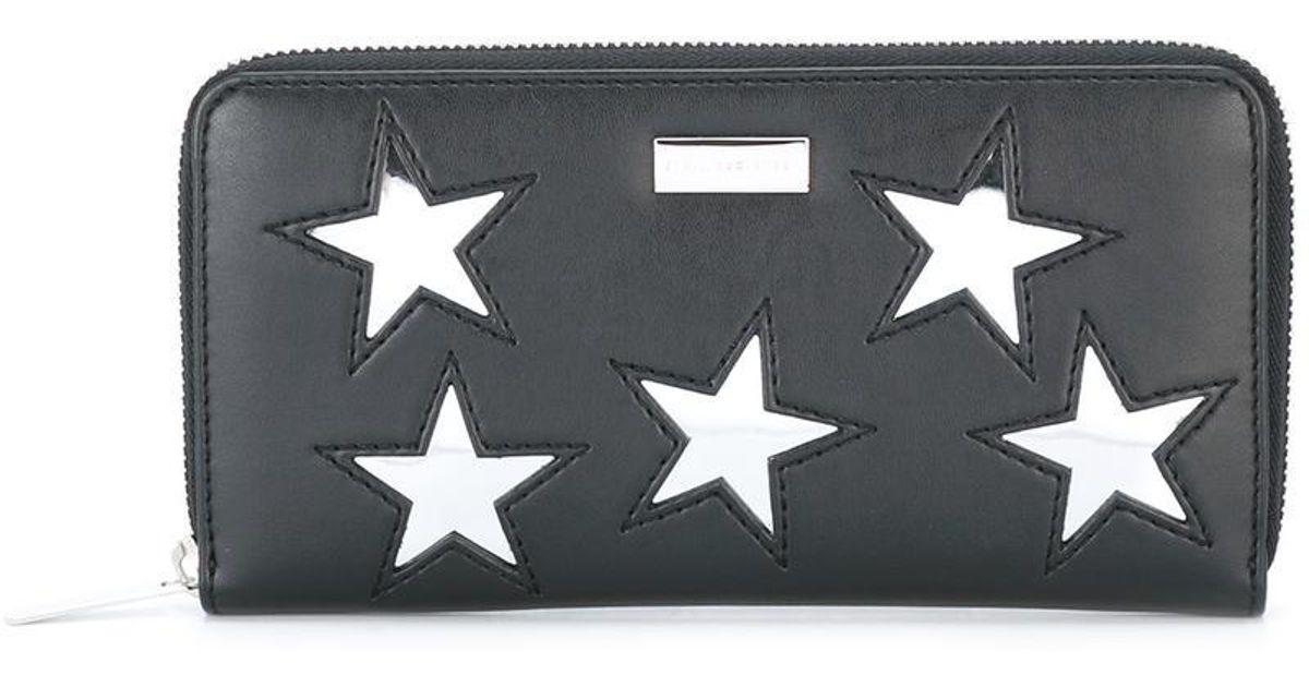0c822389cd6e Lyst - Stella McCartney Stars Continental Wallet in Black