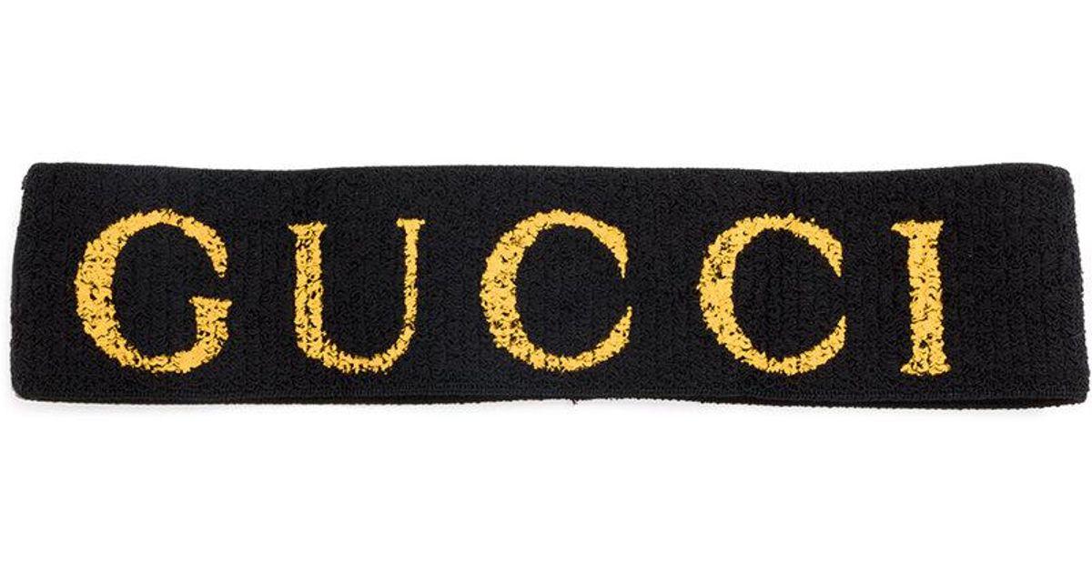 d1e452299dd Lyst - Gucci Elastic Headband in Black