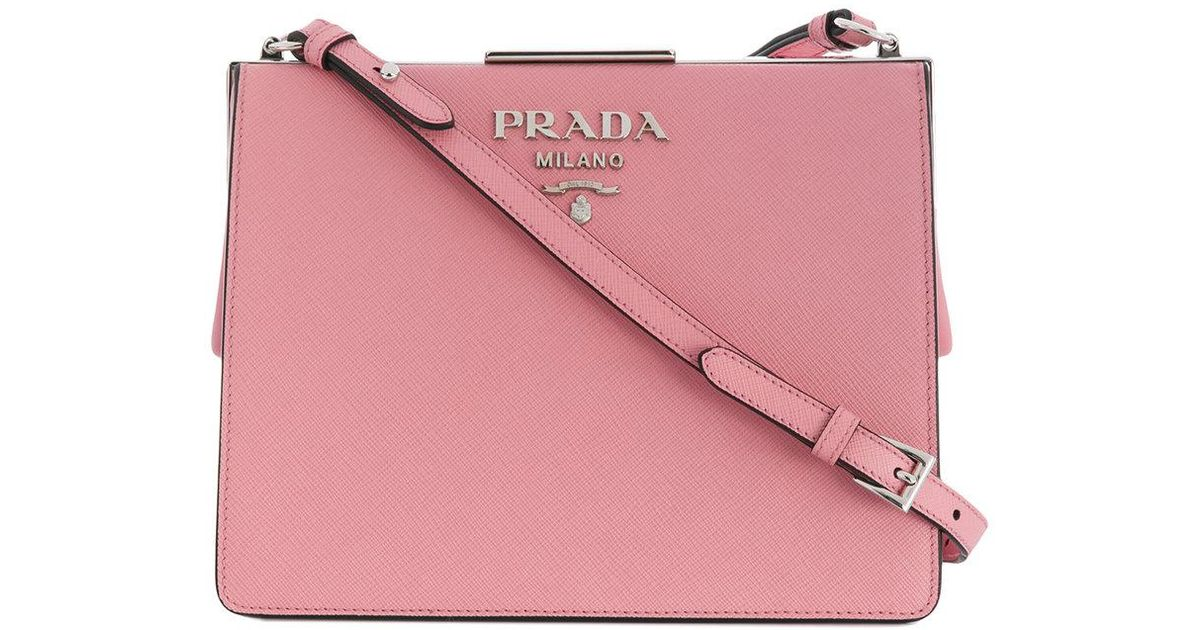 232f2f372637 ... low price lyst prada light frame shoulder bag in pink df0c8 df2c6