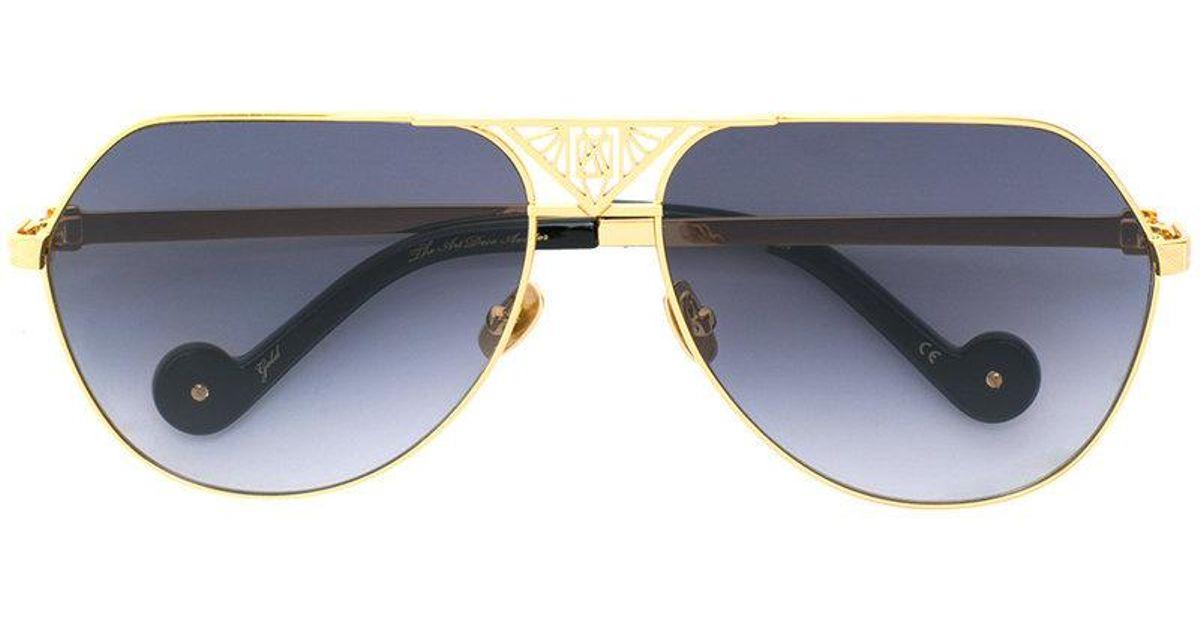 hombre Sunglasses Art The Aviator In Metallic Lyst para Karin Anna Karlsson Deco 1ITqPw