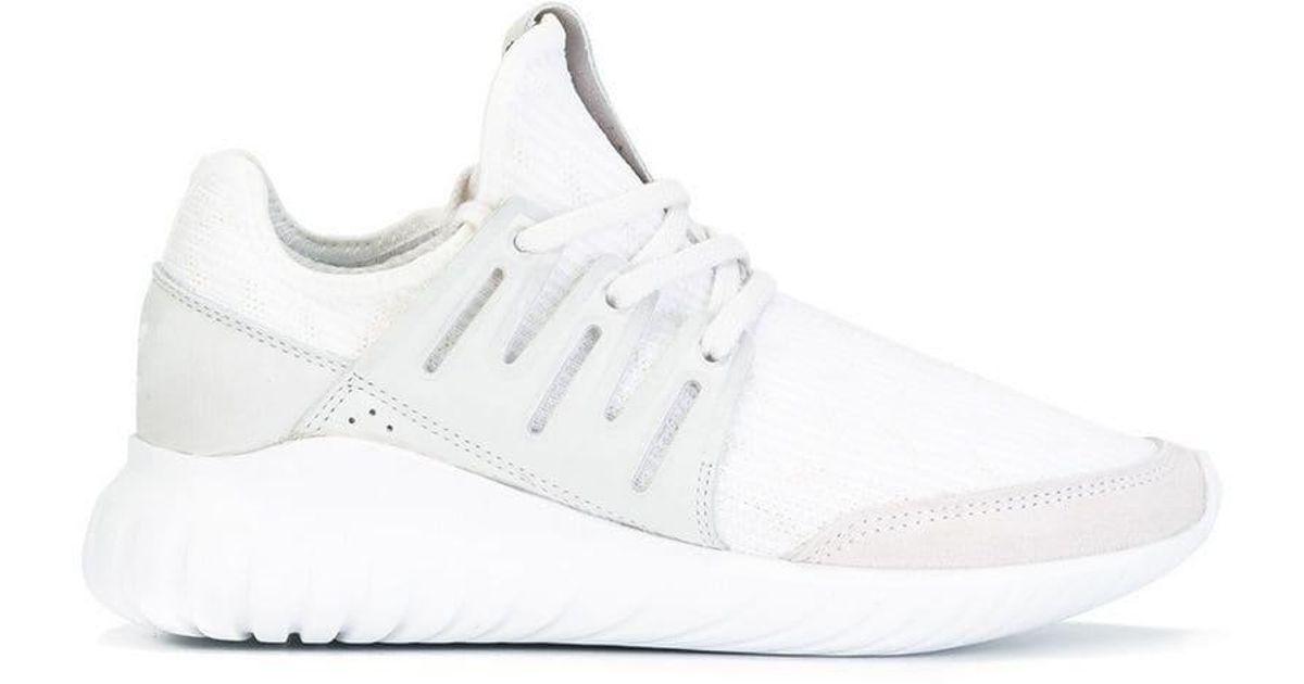 info for aa581 349d2 Adidas - White 'tubular Radial Primeknit' Sneakers for Men - Lyst