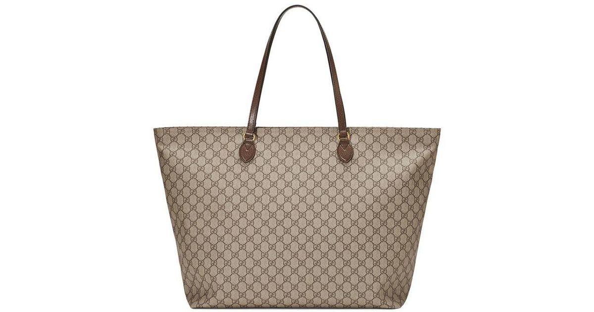 642fd051aa2390 Gucci Ophidia GG Large Tote in Brown - Save 22% - Lyst