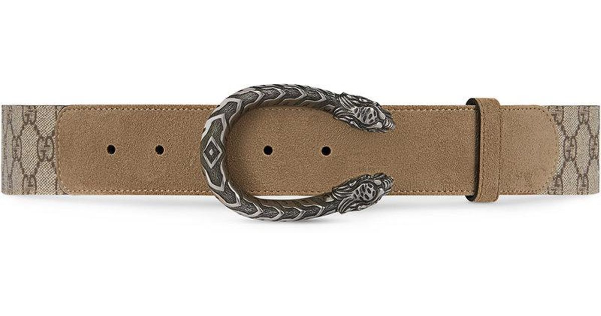 d0e77dfcc61 Lyst - Gucci Dionysus GG Supreme Belt - Save 13%