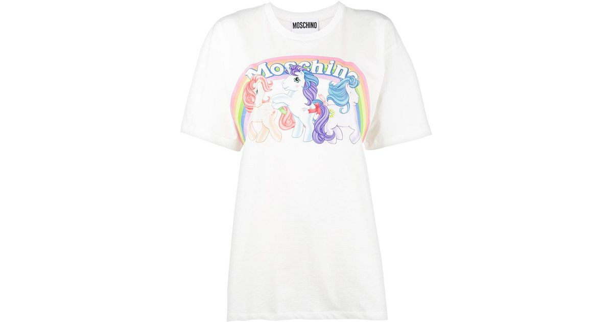 b39f9b2633 Moschino My Little Pony T-shirt in White - Lyst