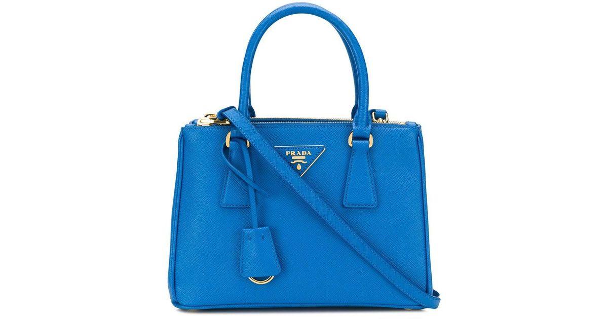 aa8bb4b12aac Lyst - Сумка-тоут 'galleria' Prada, цвет: Синий