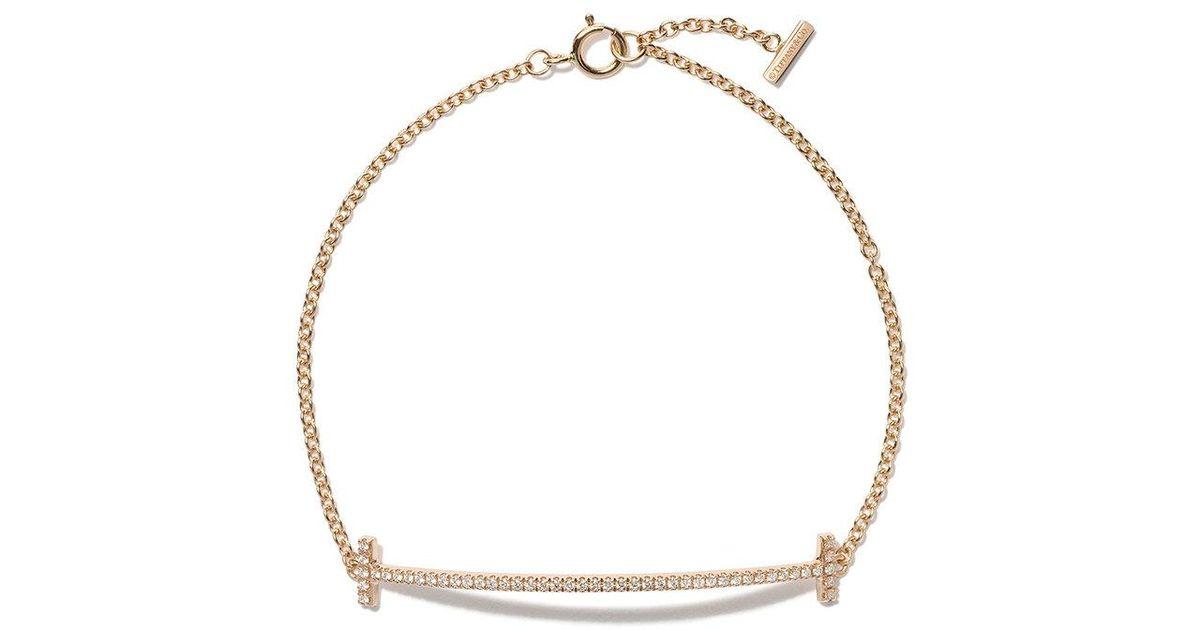 Tiffany & Co. 18kt white gold Tiffany T smile diamond bracelet - Metallic Um6xYUlrx