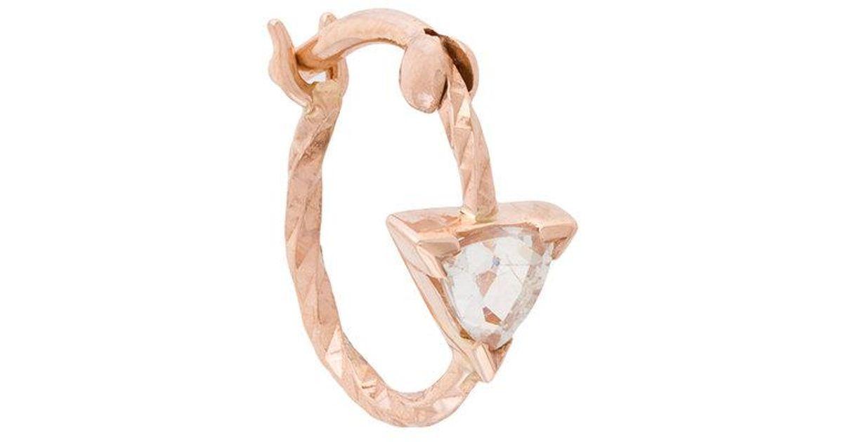 Diamant Boucle D'oreille De Vipère De Coupe - Métallique Noir Maria btbNX0