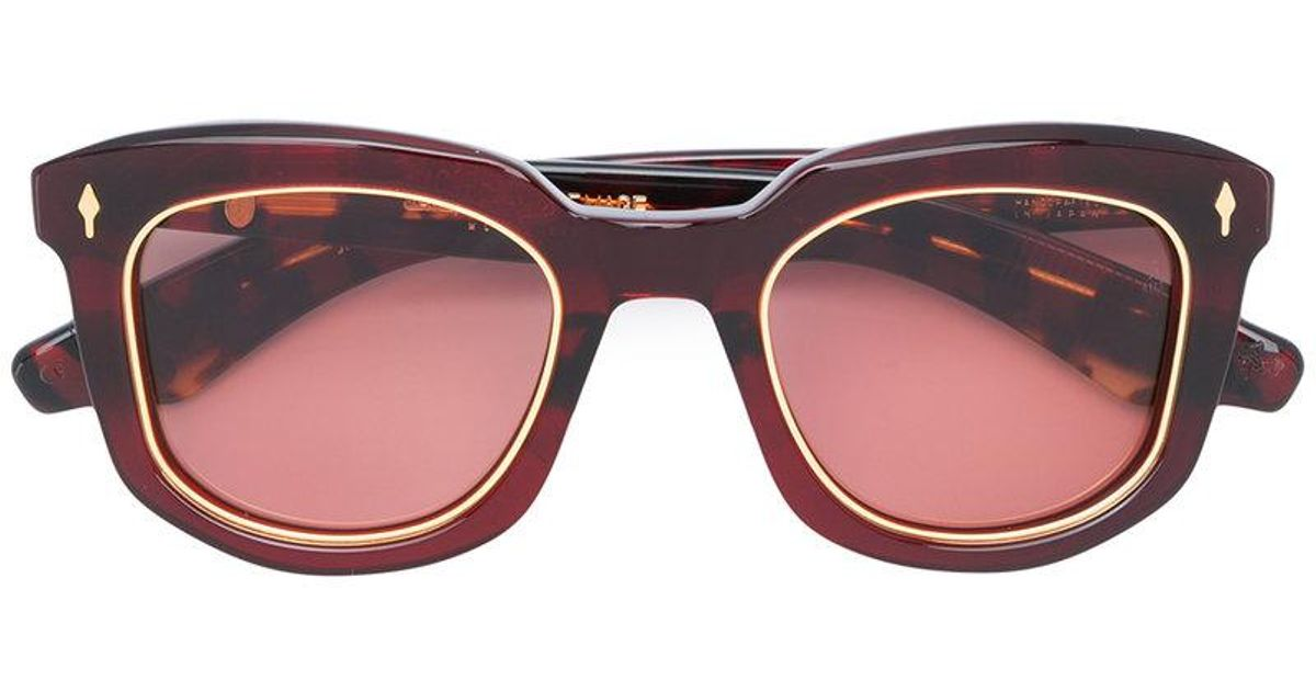0cc016920bf Lyst - Jacques Marie Mage Pasolini Sunglasses in Red
