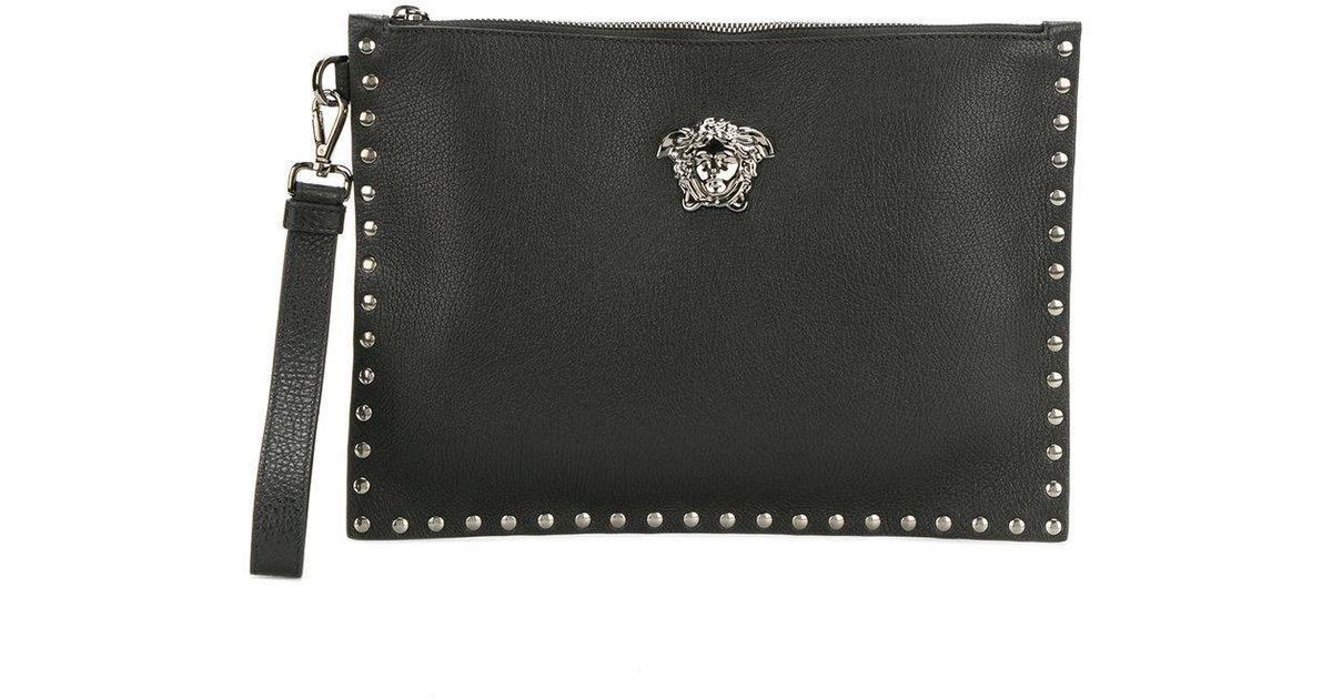Versace Medusa Head Clutch Bag in Black - Lyst 06e83118c9