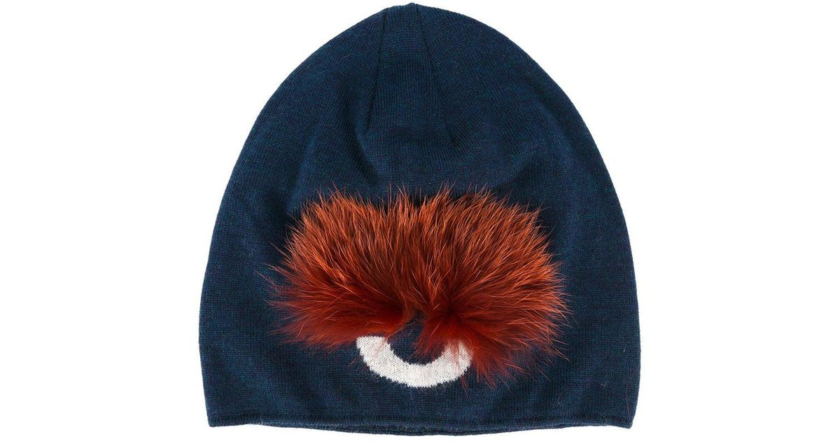 6b6265f4534 Fendi Bag Bugs Beanie in Blue - Lyst