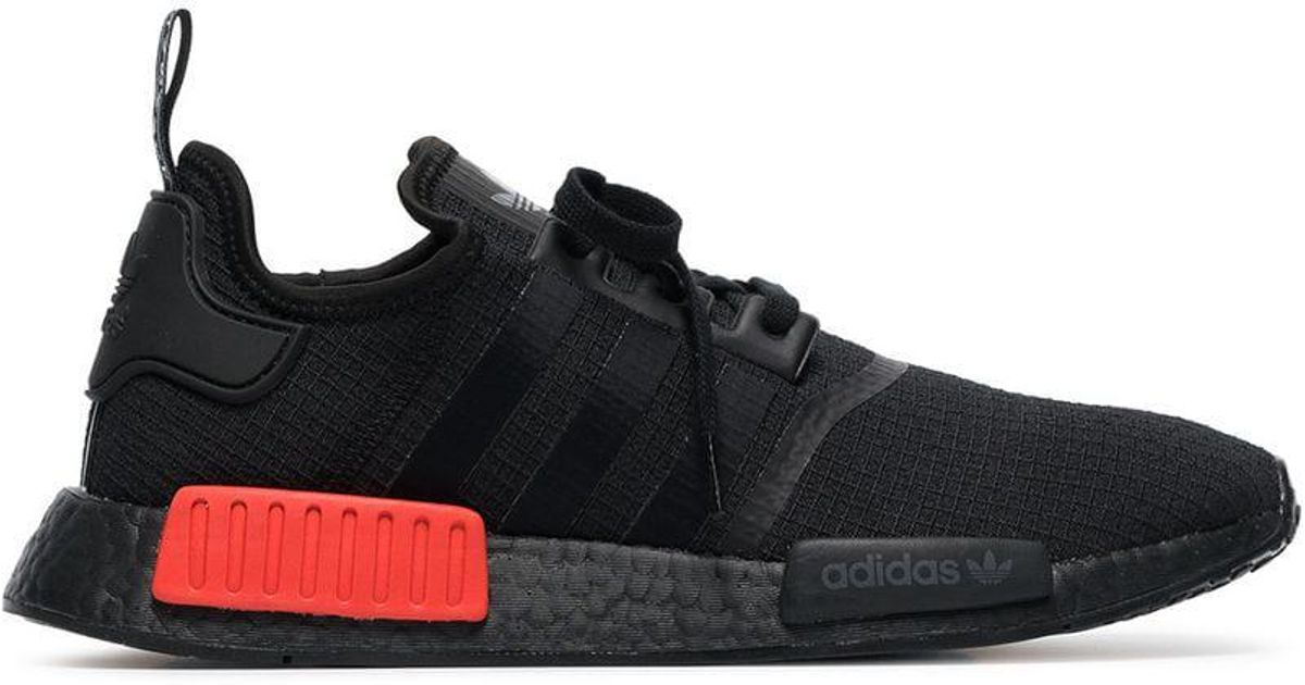 Lyst - adidas Black And Red Nmd R1 Sneakers in Black for Men 42a0141ee45c