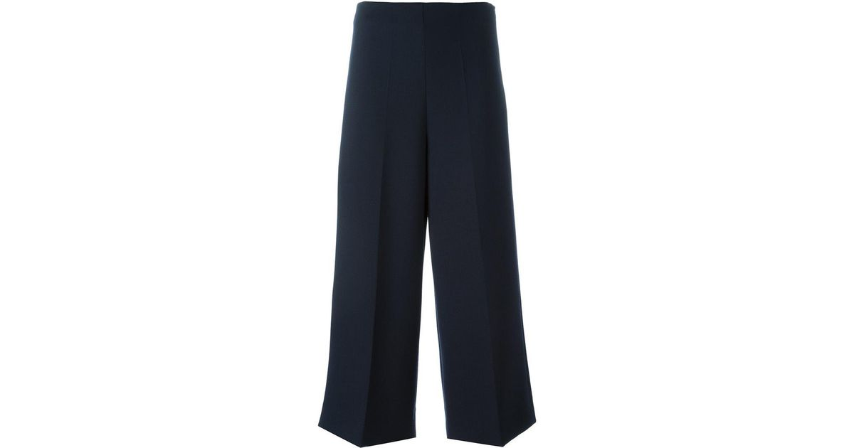 print palazzo trousers - Blue Erika Cavallini Semi Couture Discount Marketable ykWWKg