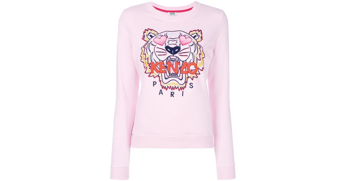 3e9b151c32 KENZO 'valentine's Day Capsule' Embroidered Tiger Sweatshirt in Pink - Lyst