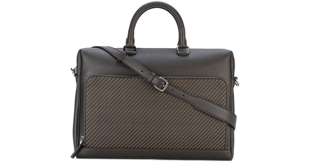 d8b6e01841e1 Ermenegildo Zegna Classic Laptop Bag in Brown for Men - Lyst