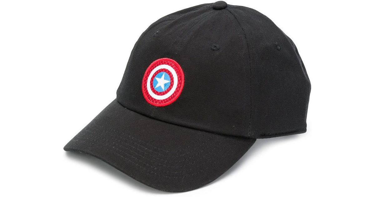 Lyst - Vans X Marvel Captain America Shield Courtside Hat in Black for Men 65d4dcd12bc