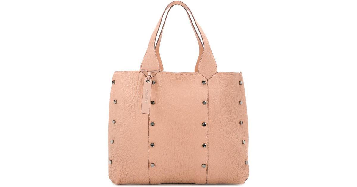 7893c833e12f Lyst - Jimmy Choo Lockett Zipped Shopper S In Blue Grained Calfskin in Pink