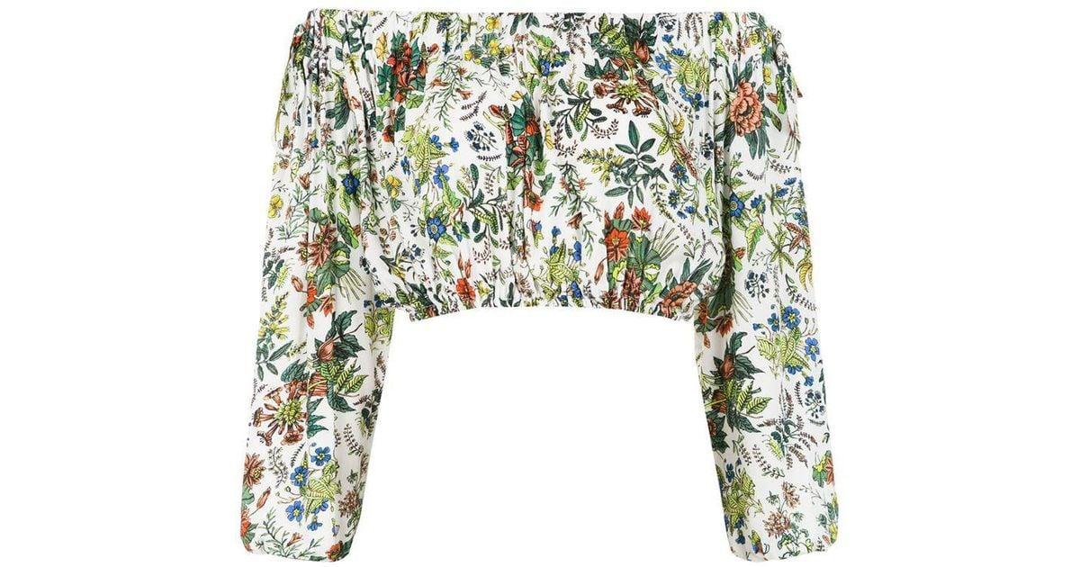 af3514711e45e7 Cecilia Prado Zenaide Cropped Top in White - Lyst