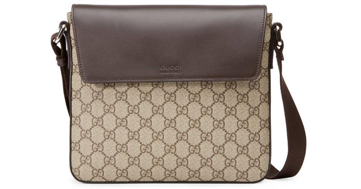 adcc3dc8373b Lyst - Gucci Gg Supreme Messenger for Men