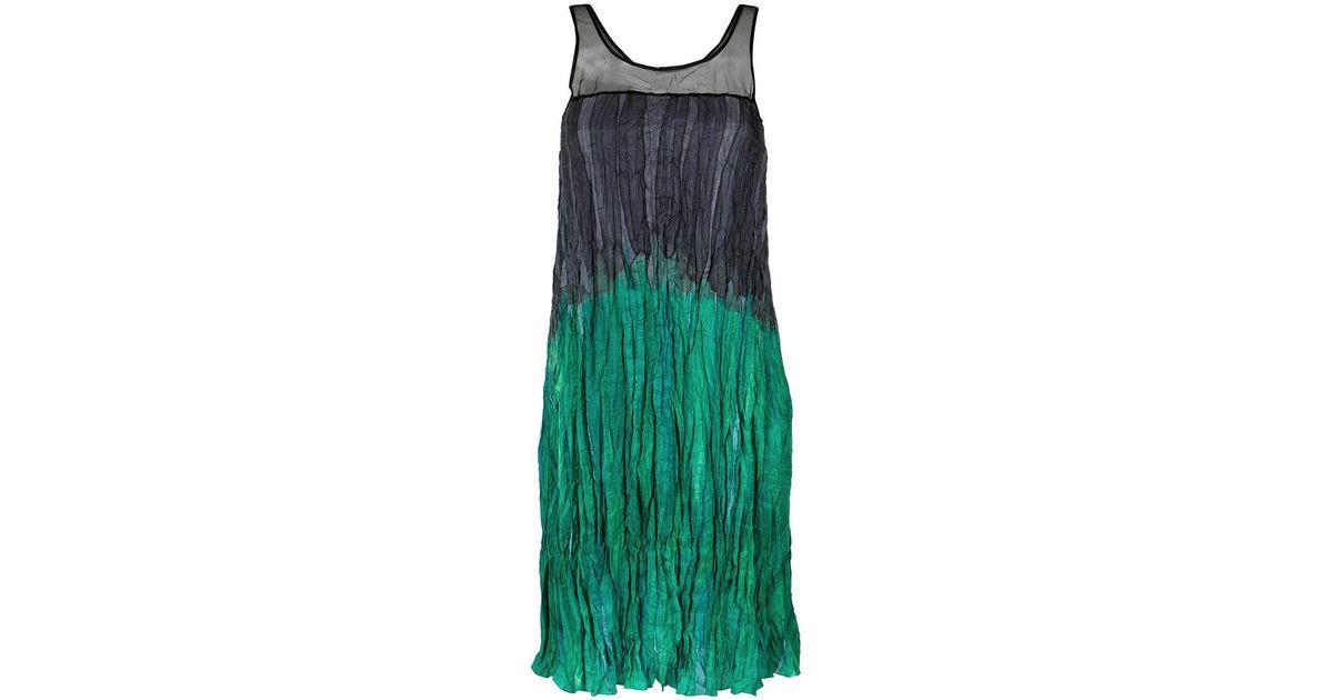 gradient effect ruched dress - Green Mara Mac Geniue Stockist Cheap Price QWTupI76s