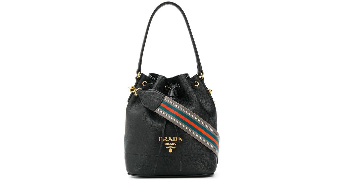 d510ff74e10549 Lyst - Prada Classic Bucket Bag in Black