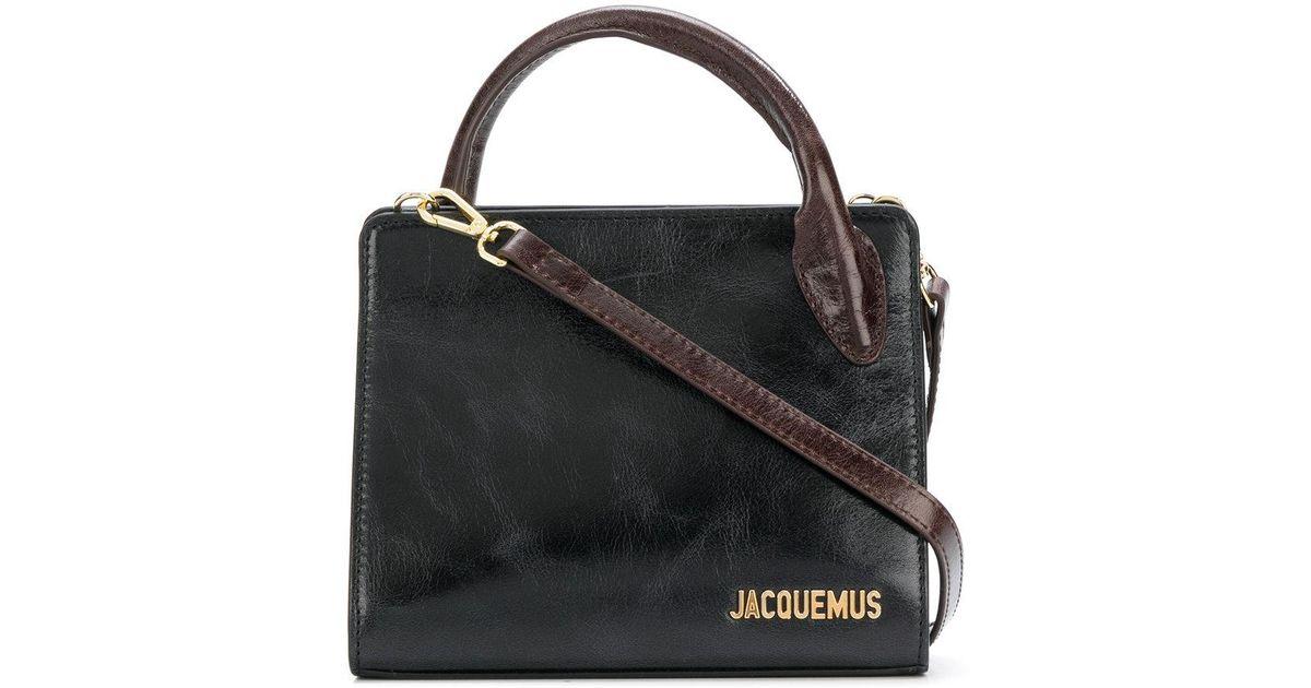En À Logo Coloris Cabas Mini Sac Plaque Jacquemus Lyst Noir xCn0qUtwZ