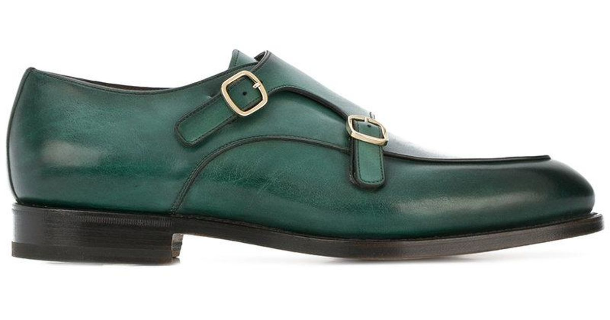 outlet store 97b06 aacf1 santoni-Green-Double-Buckle-Loafers.jpeg