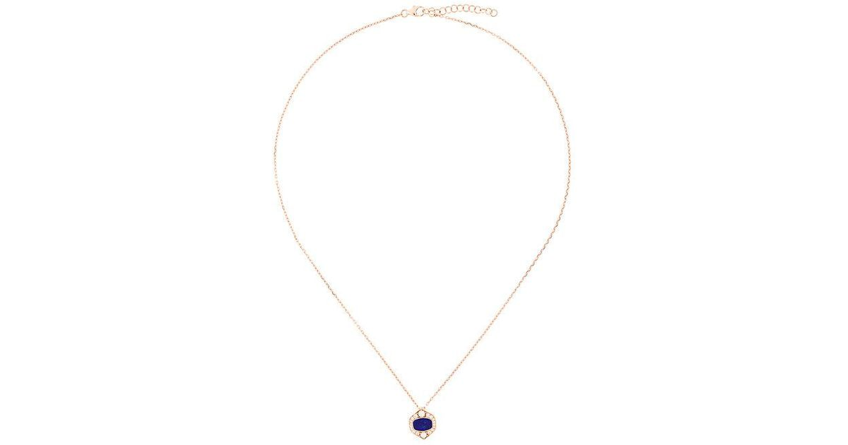 Joëlle Jewellery malachite diamond set necklace - Metallic abY1BOcr