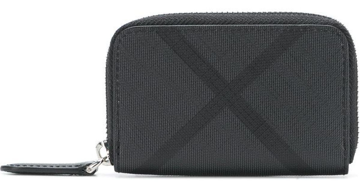 d4cfd1ed70c5 Lyst - Burberry London Check Coin Purse in Black
