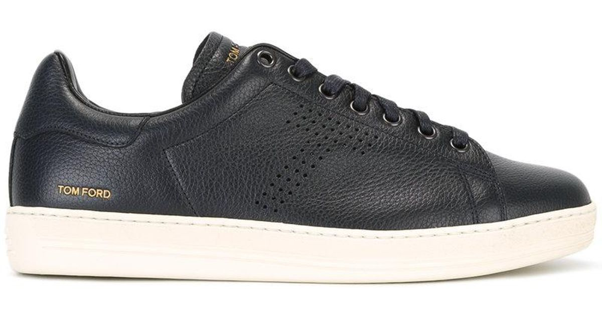 lyst - tom ford warwick sneakers in blue for men