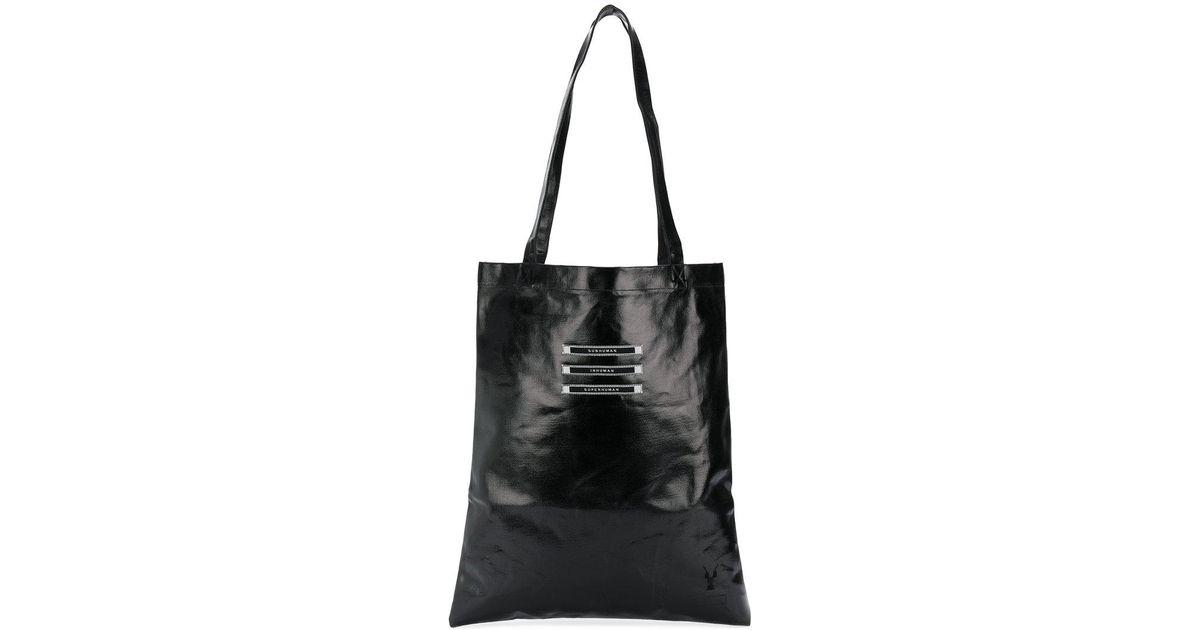 Lyst - Rick Owens Drkshdw Slogan Shopper Tote in Black for Men 92dda9cb56883