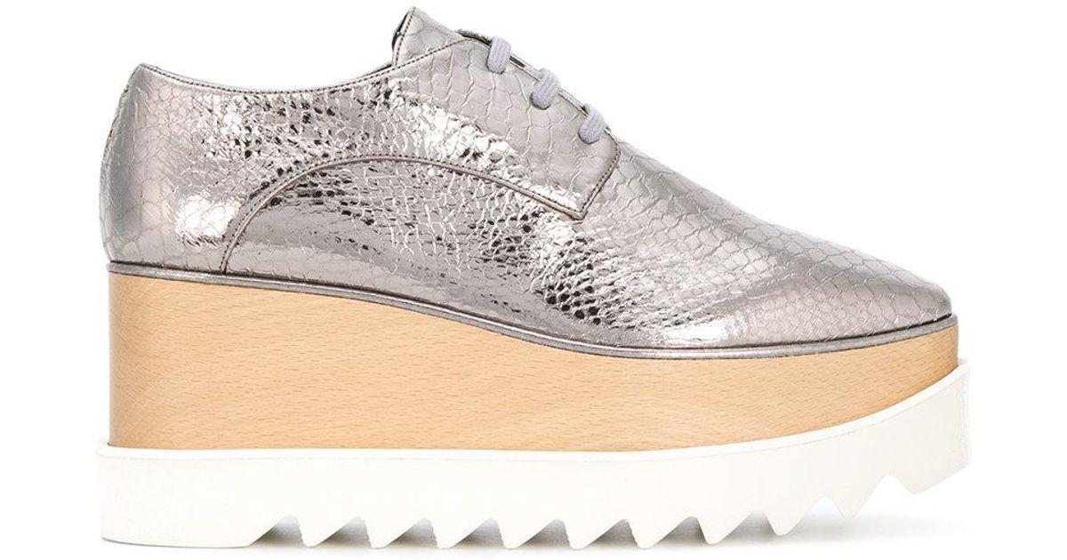 d562ca82d7d Stella McCartney Platform Elyse Shoes in Metallic - Lyst