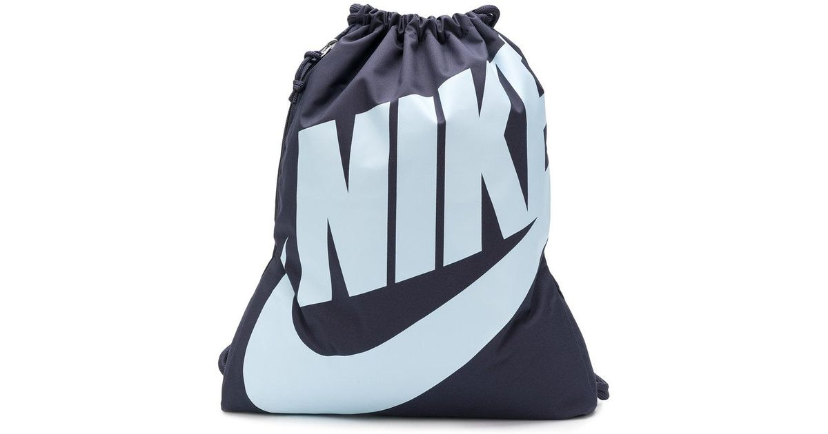 0a032b9f8e Nike Heritage Drawstring Backpack in Gray for Men - Lyst