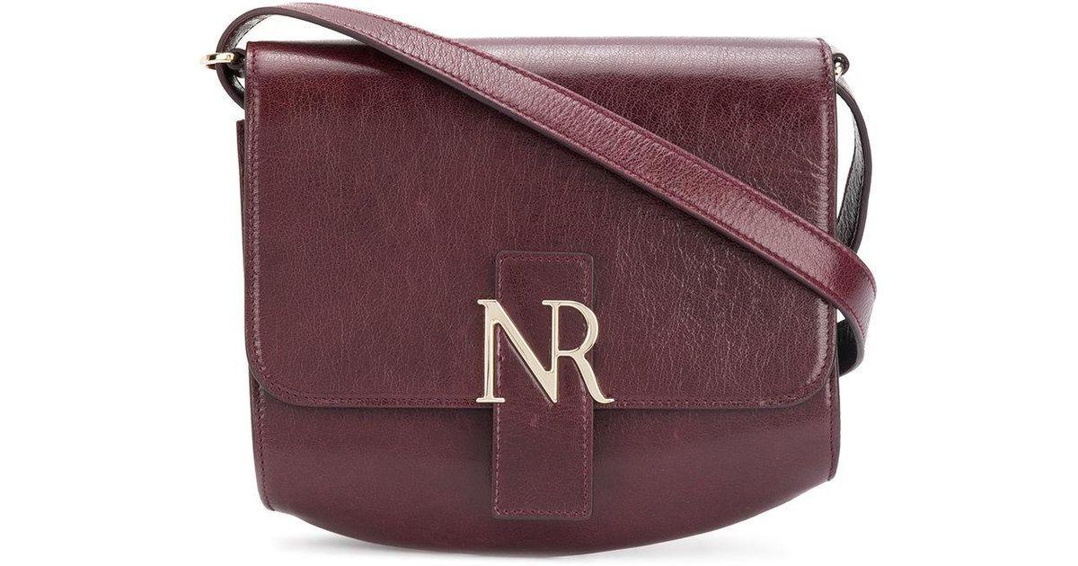 Nina Ricci Mini sac porté épaule à plaque logo xXx4zf5A