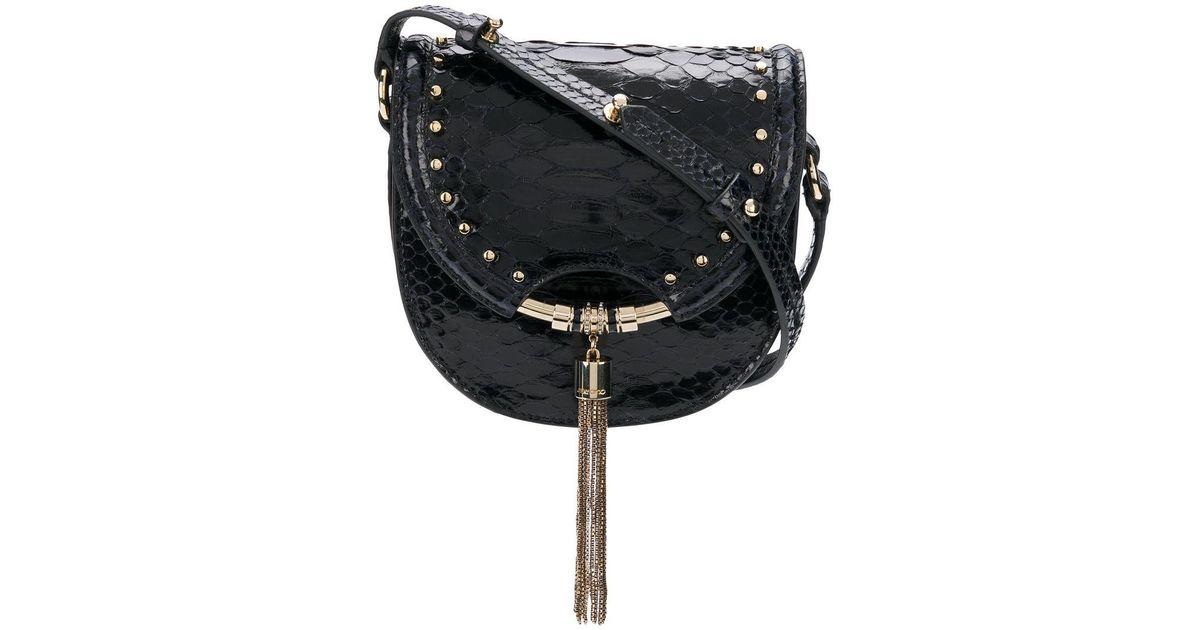 ab0a986702 Jimmy Choo Chrissy Crossbody Bag in Blue - Lyst