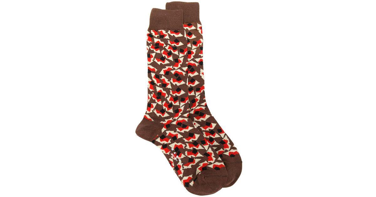 Amazon Sale Online Purchase Online Metropolis print socks - Black Marni Amazing Price Sale Online Outlet Best Wholesale lGTaC