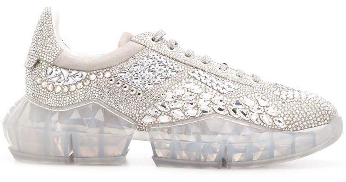 b050d2871168 Lyst - Jimmy Choo Diamond Chunky Sneakers in Metallic for Men