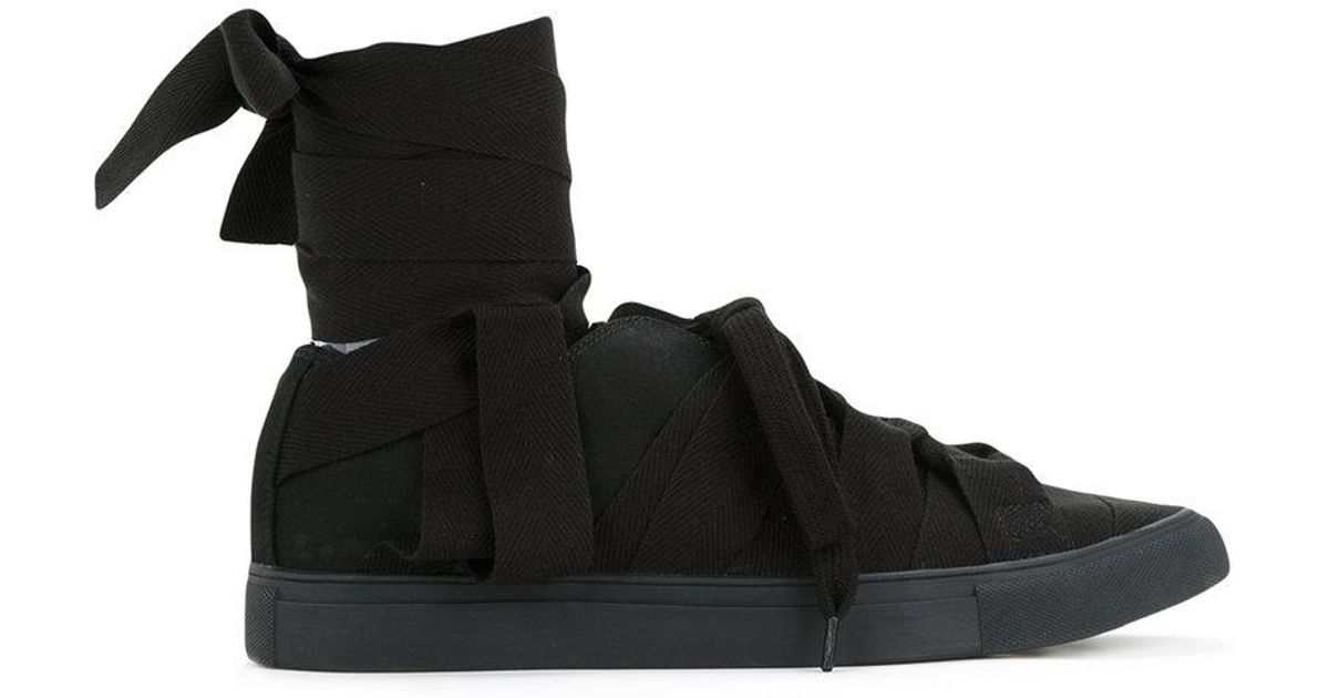 345a16cb9 Lyst - Yohji Yamamoto Tape Sneakers in Black for Men