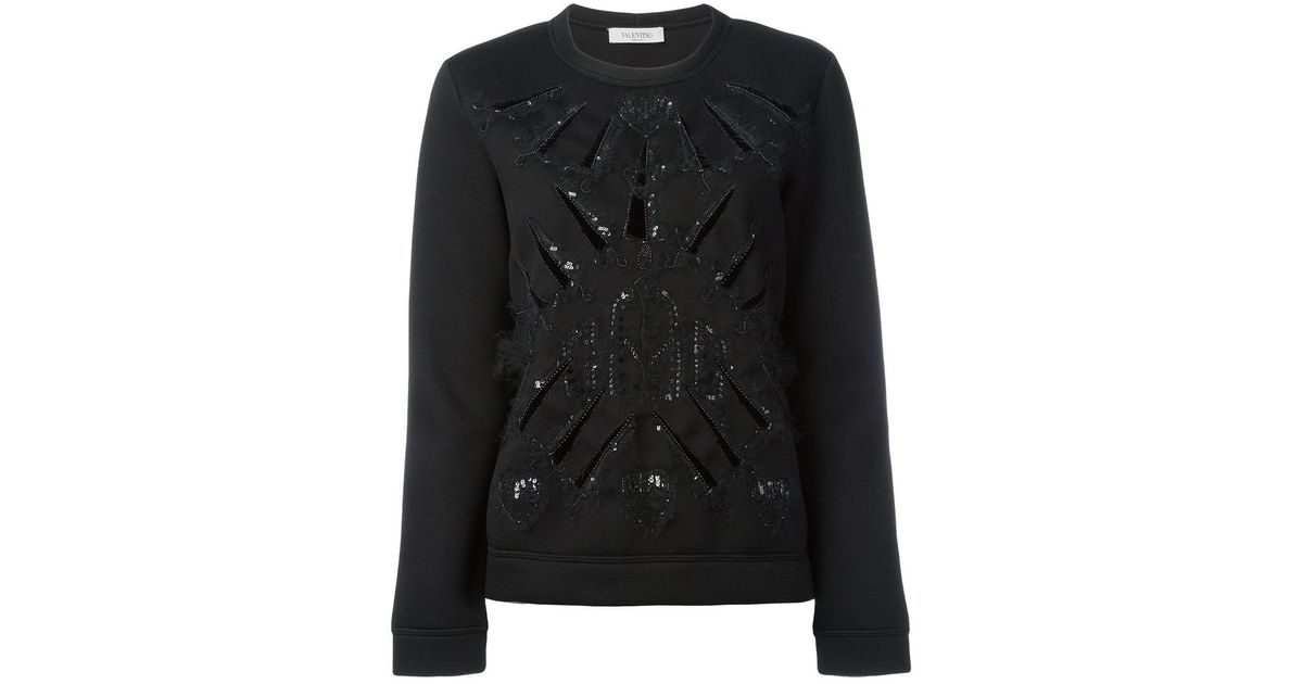 sequin embellished knitted sweater - Black Valentino Outlet Wiki Hot Sale Online Classic Cheap Online Manchester Sale Online Footlocker Finishline Cheap Online JTg56Gn