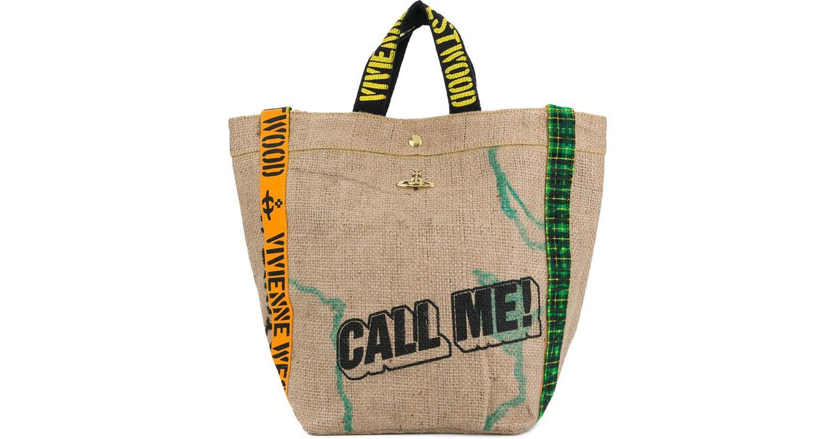 5c5a574bc3 Vivienne Westwood Anglomania Call Me! Tote Bag - Lyst