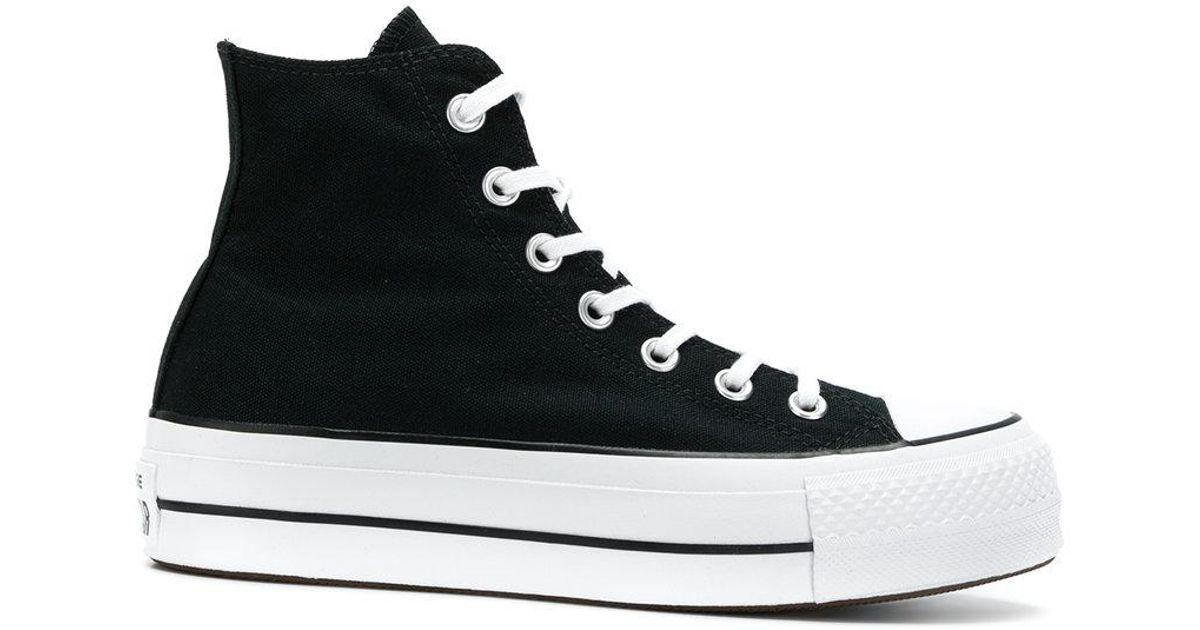 47fc5863d5 Converse Lift Hi-top Platform Sneakers in Black - Lyst