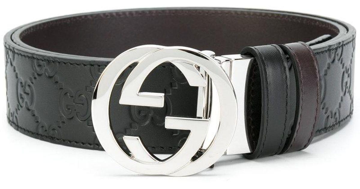 69c9507ec Gucci Gg Supreme Reversible Belt in Black for Men - Lyst