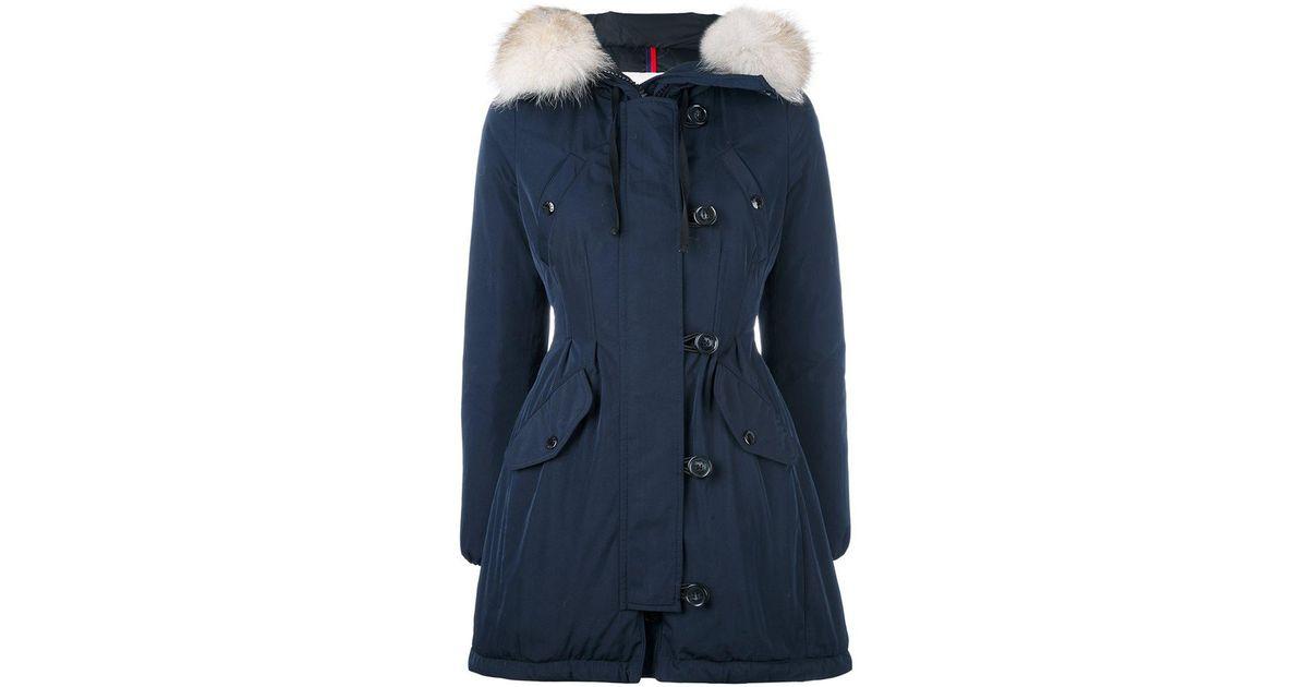 3b4035038 Moncler - Blue 'aredhel' Parka Coat - Lyst