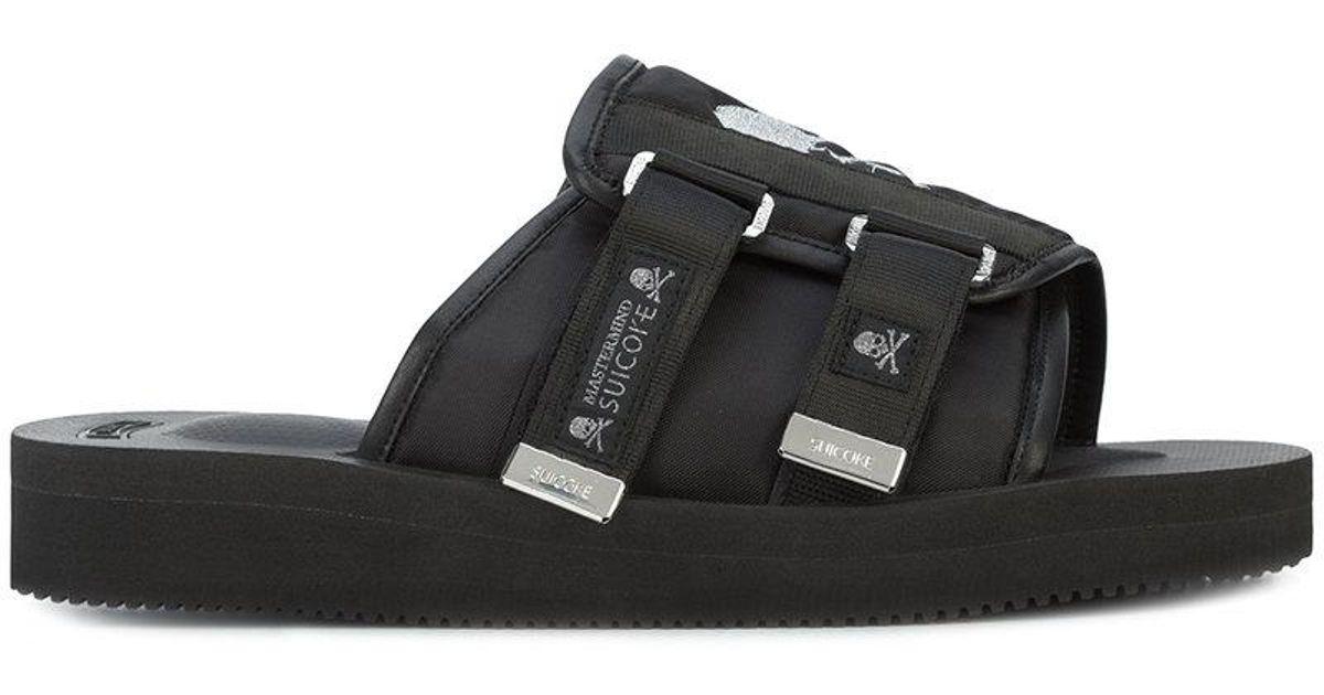 2d2314b19f0 Lyst - Mastermind Japan Suicoke Slides in Black for Men