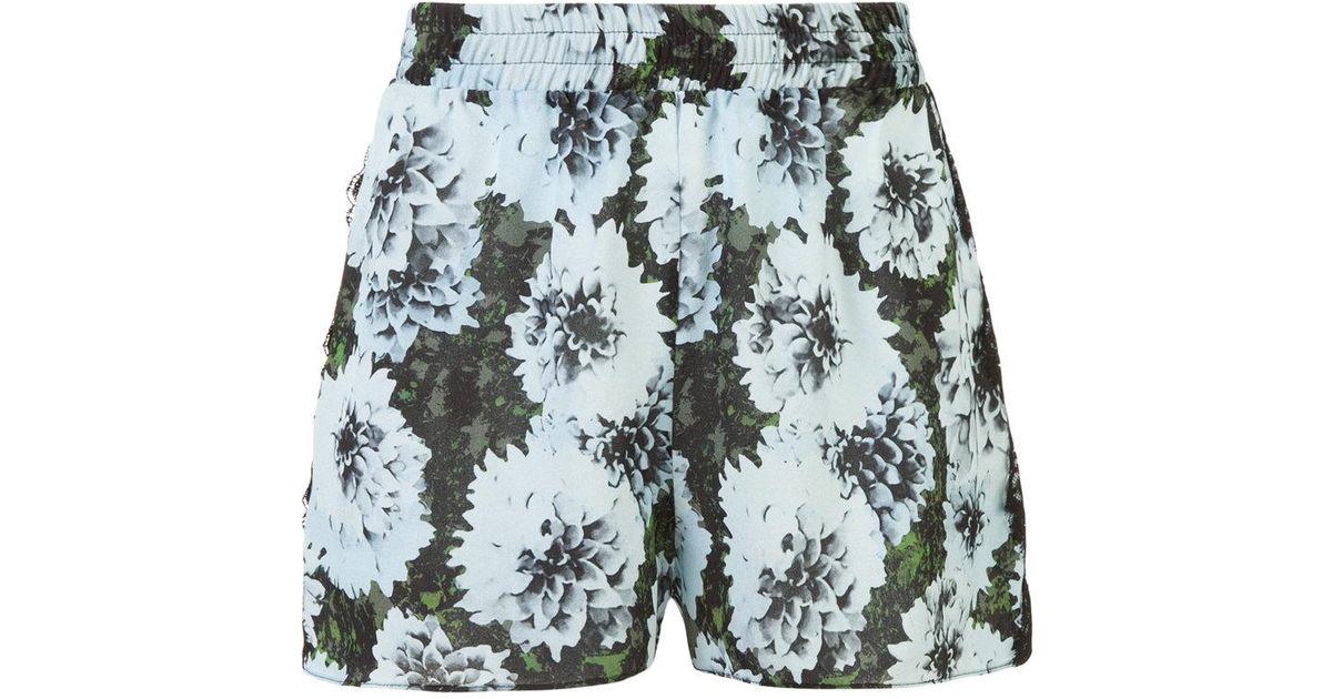 floral print shorts - Blue Fleur du Mal 3A6IxT