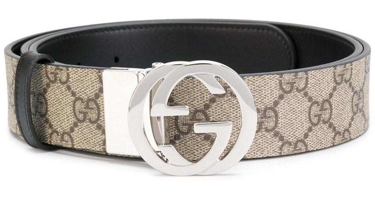 74efd38cd5d Gucci Gg Supreme Reversible Buckle Belt in Black - Lyst