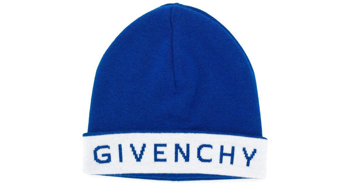 bb6492bec7 Lyst - Bonnet à logo Givenchy pour homme en coloris Bleu