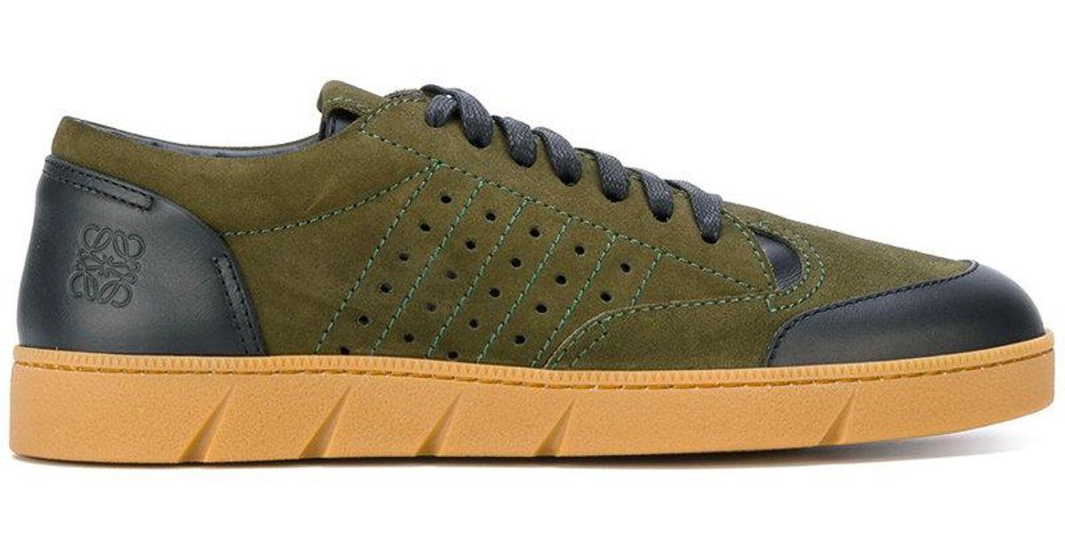 contrast panel sneakers - Green Loewe nj2DRLmv7