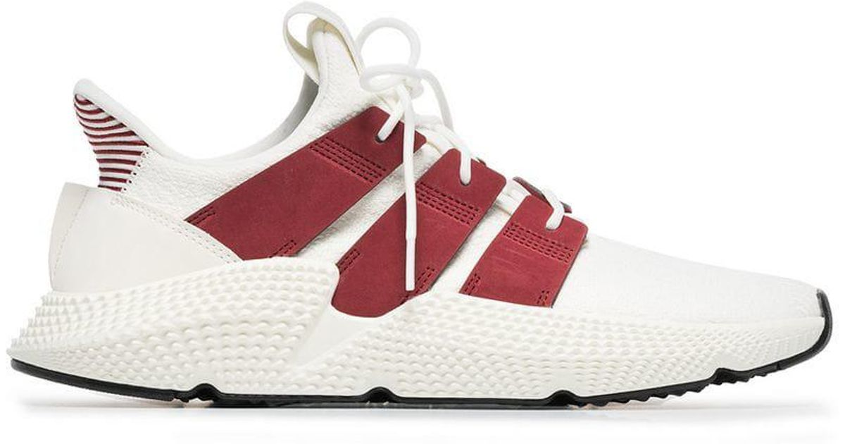 more photos 3f8a1 8a050 adidas Beige And Red Prophere Sneakers in Red for Men - Lyst