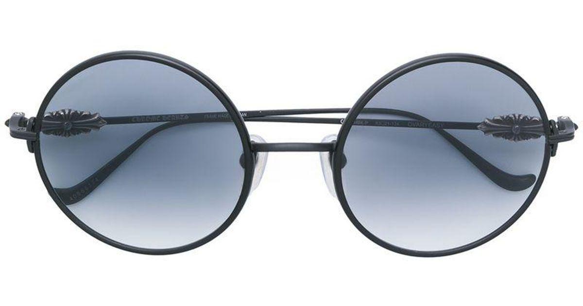 9d442023cd034 Chrome Hearts Ovaryeasy Sunglasses in Black - Lyst