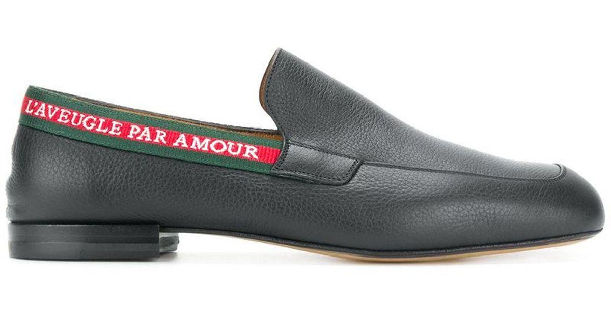 469de5c39b13f Lyst - Gucci L aveugle Par Amour Loafers in Black for Men - Save 62%